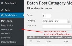 BatchTools menu