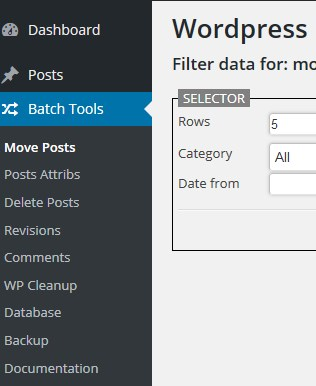 Wordpress-BATCH-Tools Menu Small
